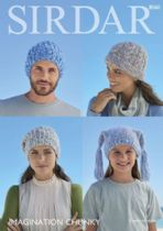 Sirdar Imagination Chunky - 8060 Hats Knitting Pattern